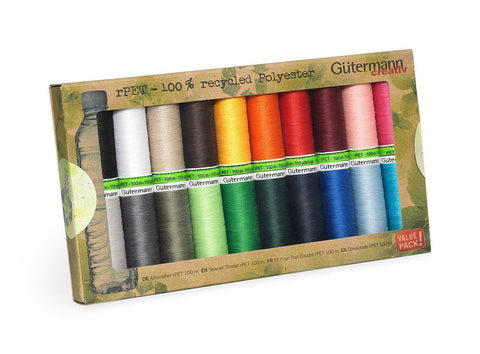 Gutermann Recycled Sew-All Thread Set 20pk - Basics