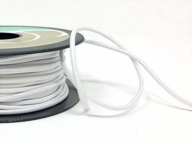 2mm Elastic Cord - White