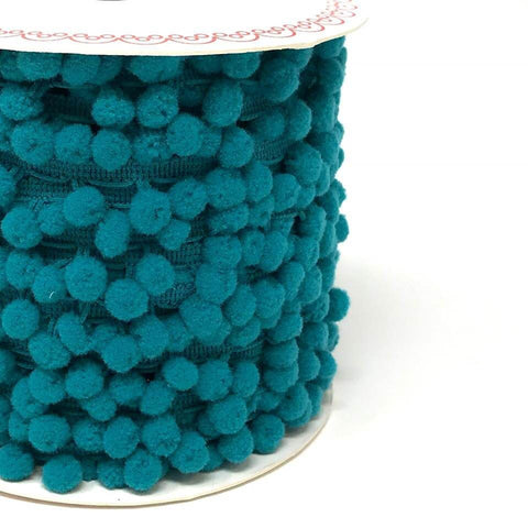 10mm Pom Pom Trim Teal