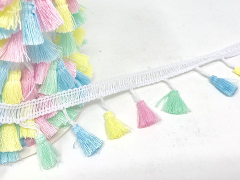 38mm Tassel Trim - Baby Pastels