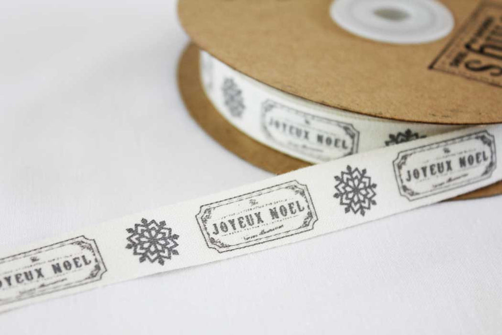 15mm Joyeux Noel Christmas Ribbon