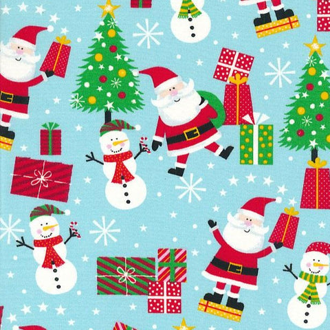 Kingfisher Fabrics Tis the Season - Santa and Friends - 100% Cotton Fabric
