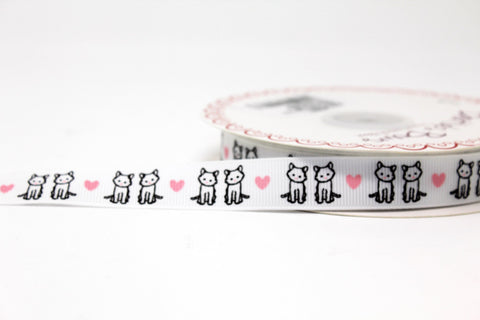 15mm Kittens Ribbon