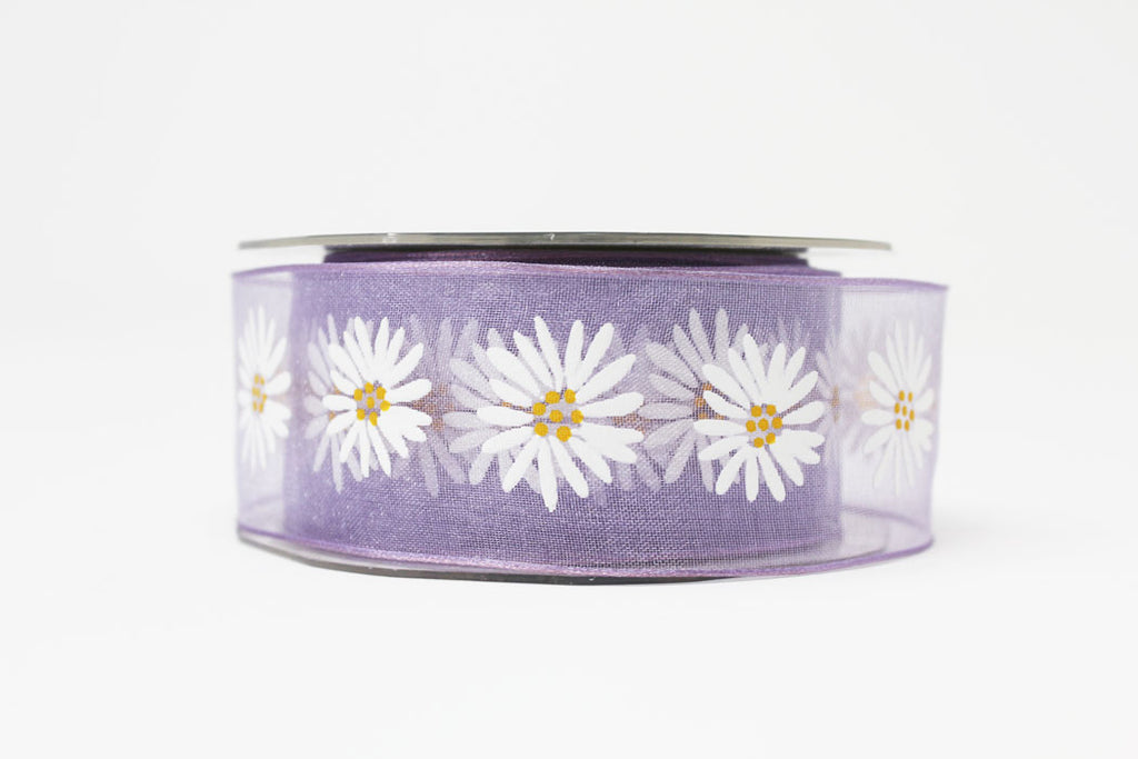 Daisy Lavender Sheer Ribbon