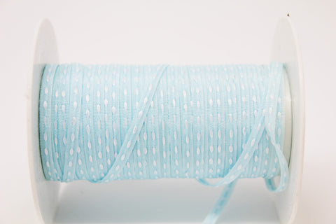 3mm Light Blue Centre Stitch Ribbon