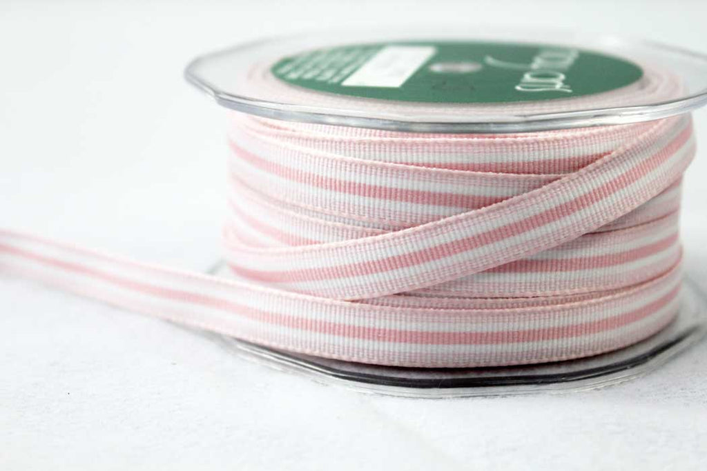 10mm Pink Slim Stripe Ribbon