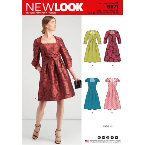 New Look Sewing Pattern 6571 - Misses' Dresses