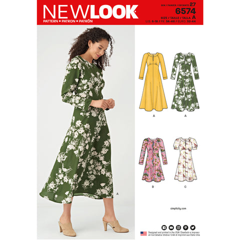 New Look Sewing Pattern 6574 - Misses' Dresses