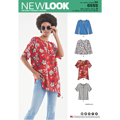 New Look Sewing Pattern 6555 - Women's Keyhole Shirt