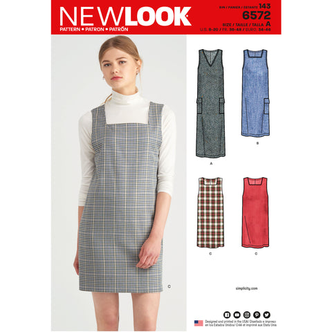 New Look Sewing Pattern 6572 - Misses' Jumper Dress