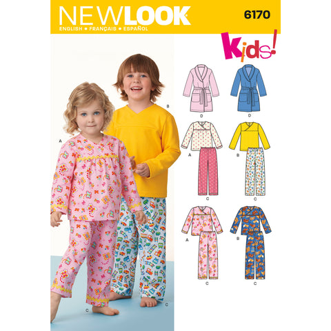 New Look Sewing Pattern 6170 - Toddlers' and Child's Pyjamas