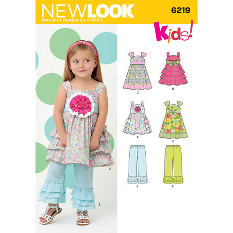 New Look Sewing Pattern 6219 - Toddlers' Dress and Pants