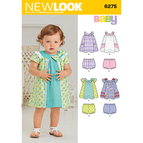 New Look Sewing Pattern 6275 - Babies' Dress and Panties