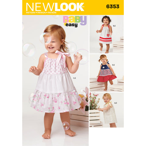 New Look Sewing Pattern 6353 - Babies' Dresses and Panties