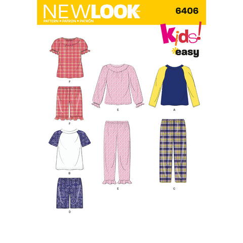 New Look Sewing Pattern 6406 - Children's Separates