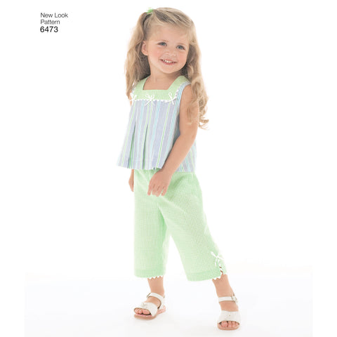 New Look Sewing Pattern 6473 - Toddler Separates