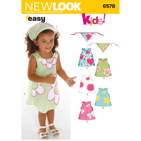 New Look Sewing Pattern 6578 - Toddler Dresses