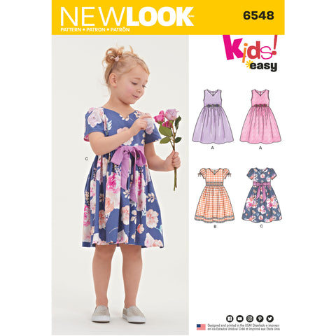New Look Sewing Pattern 6548 - Child's Party Dress