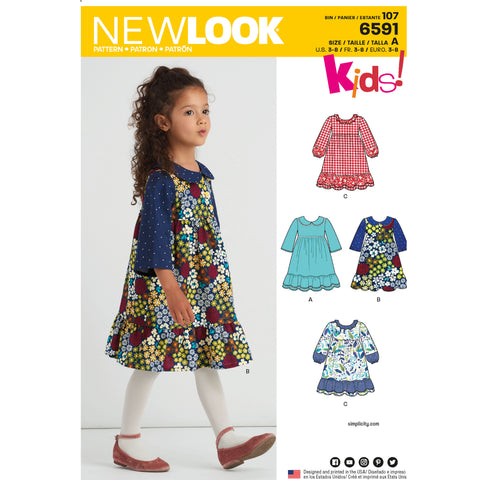 New Look Sewing Pattern 6591 - Child's Dress