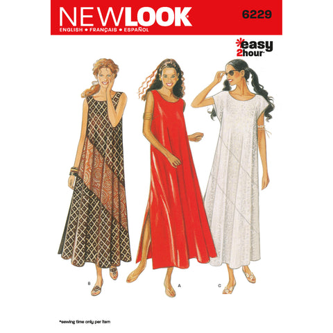 New Look Sewing Pattern 6229 - Misses Dresses