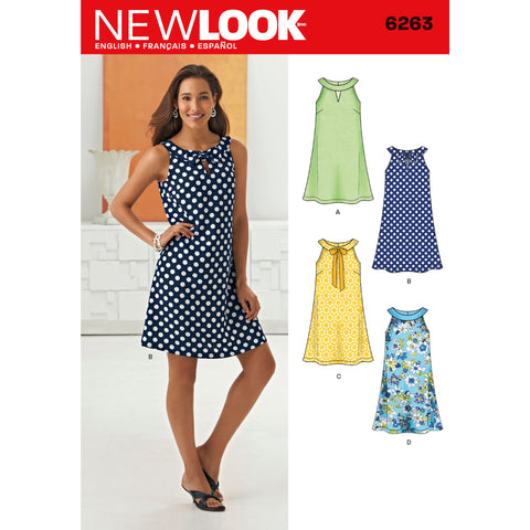 New Look Sewing Pattern 6263 - Misses' A- Line Dress