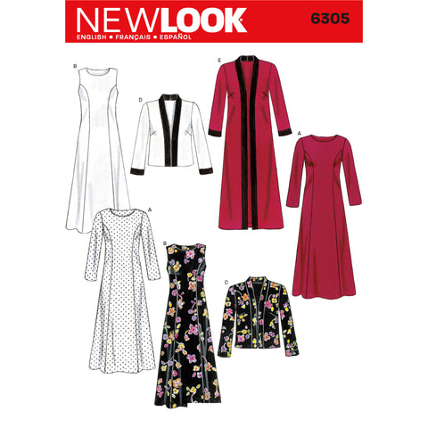 New Look Sewing Pattern 6305 - Misses Dresses