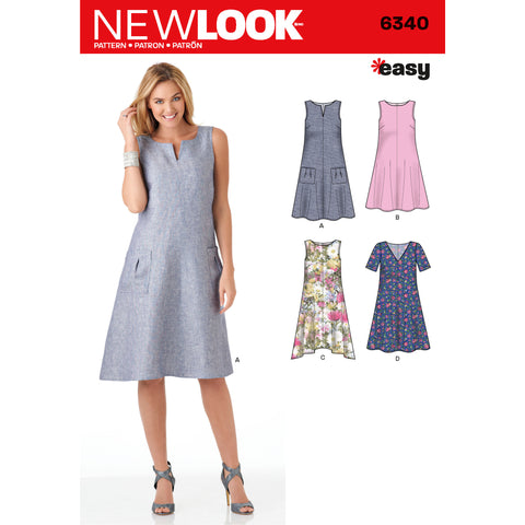 New Look Sewing Pattern 6340 - Misses' Easy Dresses