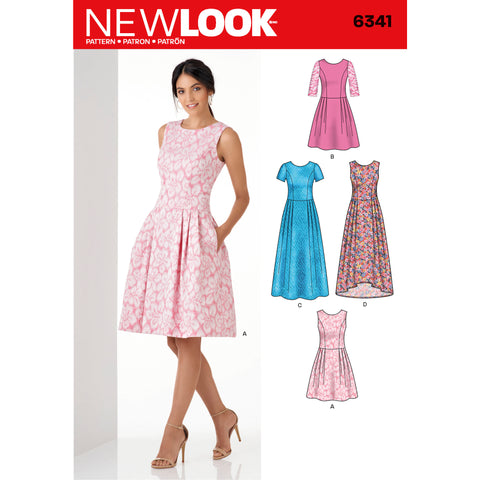 New Look Sewing Pattern 6341 - Misses' Dress in Three Lengths