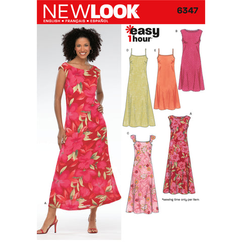 New Look Sewing Pattern 6347 - Misses Dresses
