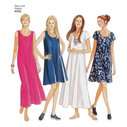 New Look Sewing Pattern 6352 - Misses Dresses