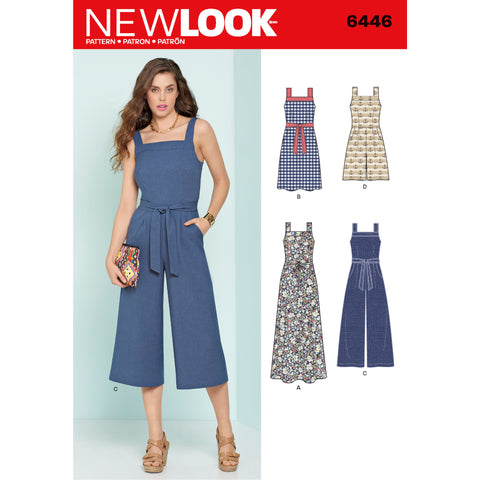 New Look Sewing Pattern 6446 - Misses' Jumpsuits and Dresses