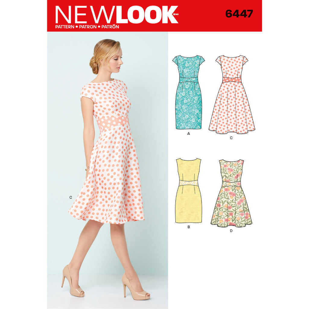 New Look Sewing Pattern 6447 - Misses' Dresses