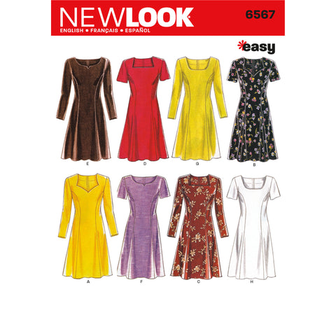 New Look Sewing Pattern 6567 - Misses Dresses