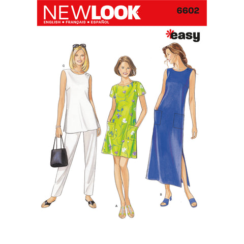 New Look Sewing Pattern 6602 - Misses Dresses
