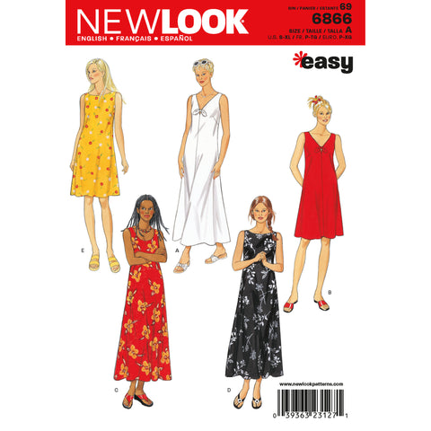 New Look Sewing Pattern 6866 - Misses Dresses