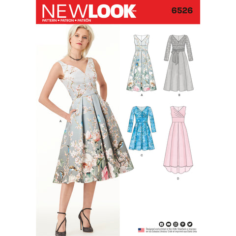 New Look Sewing Pattern 6526 - Women's Dress With Bodice Variations