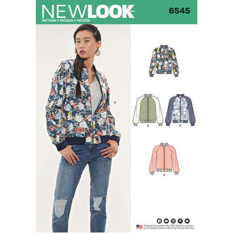 New Look Sewing Pattern 6545 - Misses Flight Jacket