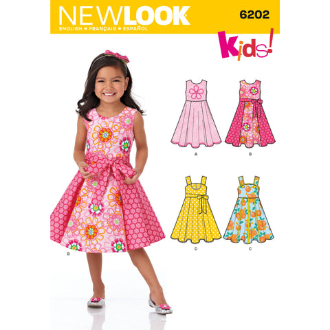 New Look Sewing Pattern 6202 - Child's Dress and Sash