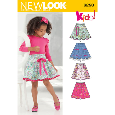 New Look Sewing Pattern 6258 - Child's and Girls' Circle Skirts