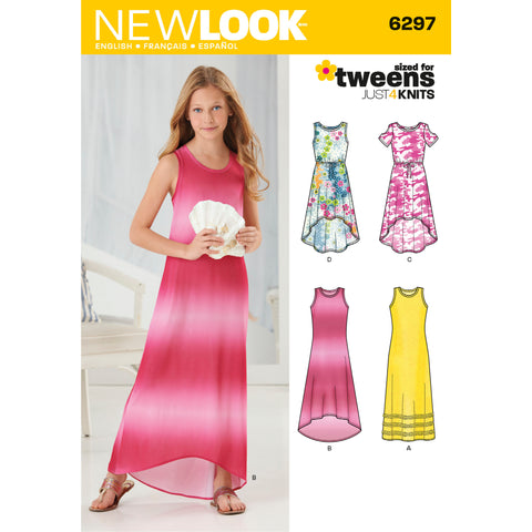 New Look Sewing Pattern 6297 - Girls' Knit Dress