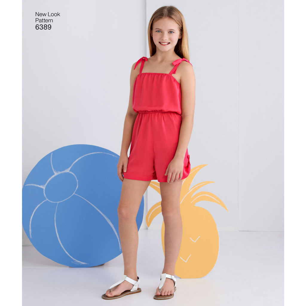 NewLo... New Look Girls Easy Sewing Pattern 6389 Summer Jumpsuits /& Dresses