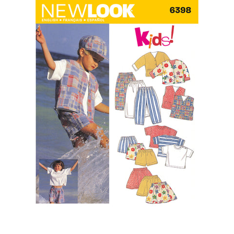 New Look Sewing Pattern 6398 - Child Separates