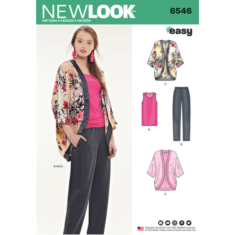 New Look Sewing Pattern 6546 - Misses' Seperates