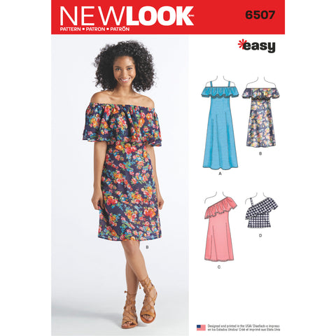 New Look Sewing Pattern 6507 - Women's Dresses and Top