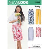 New Look Sewing Pattern 6544 - Miss Skirt in Two Lengths
