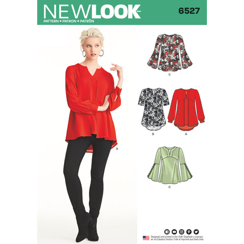 New Look Sewing Pattern 6527 - Women's Tunic in Two Lengths