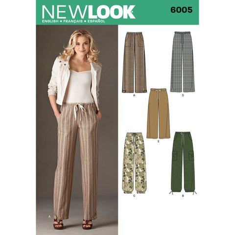 New Look Sewing Pattern 6005 - Misses' Pants