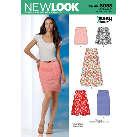 New Look Sewing Pattern 6053 - Misses' Skirts