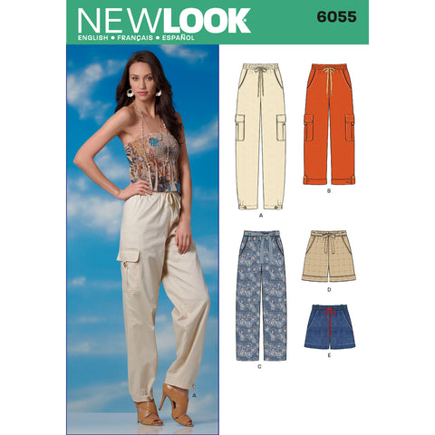 New Look Sewing Pattern 6055 - Misses' Pants & Shorts