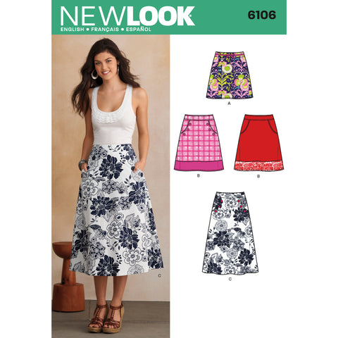 New Look Sewing Pattern 6106 - Misses' Skirts